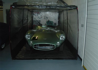 Air Chamber option for clients who prefer their vehicle to be stored within its own individual environment