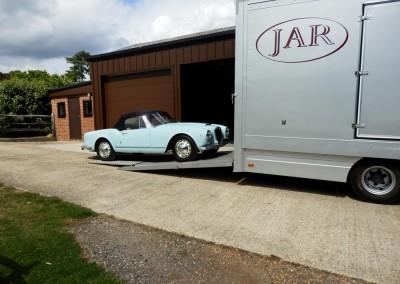 A beautiful Lancia Aurelia ready to load