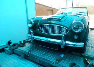 Austin Healey loaded and ready to go
