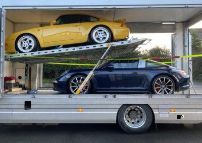 JAR Transporter loaded showing double car decks